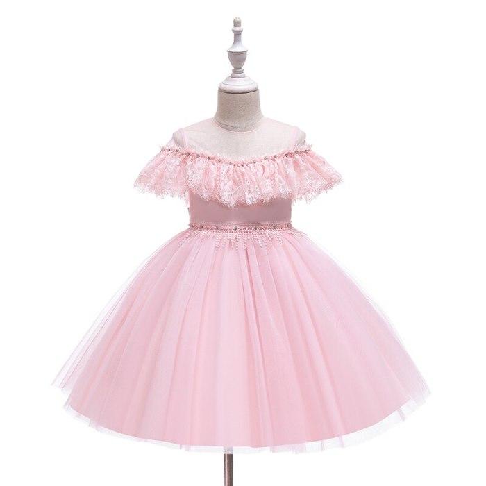 Girls Dress Silk Party Evening Elegant Girls Princess  Kids Vestidos