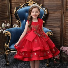 Children Party Dress Wedding Gown for Girls Birthday Party Dress