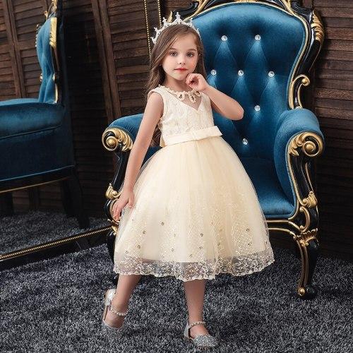 Princess Party Dress Lace Children Bridesmaid Elegans Clothes