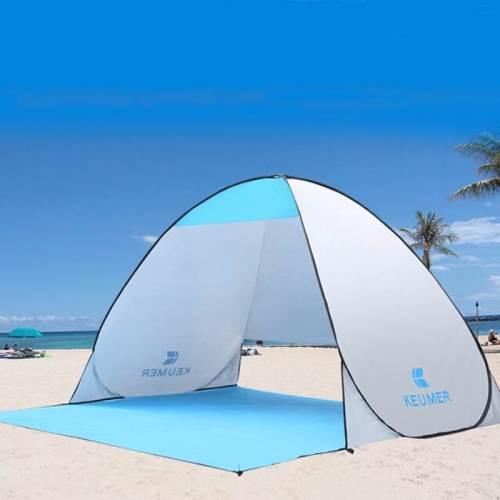 Large Beach Sun Shelter | Canopy Tent Blue | Beach Pop Up Tent