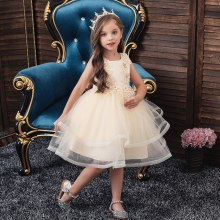 Girls White Dress Wedding Party Princess Christmas Dresse