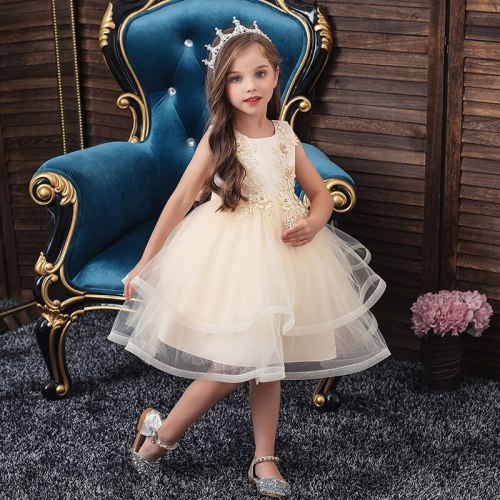 Girls White Dress Wedding Party Princess Christmas Dresse