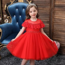 Girls Dress Silk Party Evening Elegant Girls Princess  Kids Vestidos