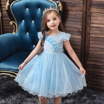 Elegant Pearl Princess Girls Wedding Flower Girl Dress