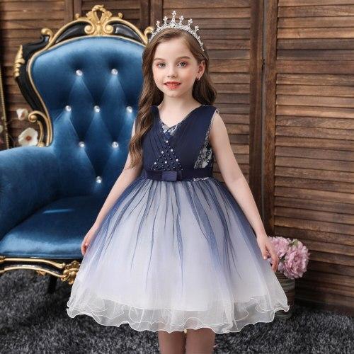 Flower Girls Dress Gradient Color Tulle Kids Skirt Girl Dress