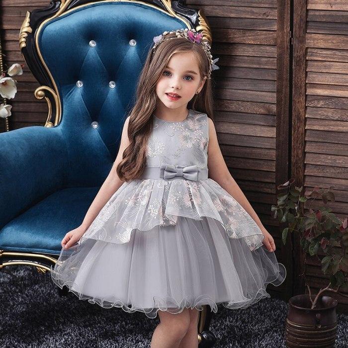 Girl Dress princess Dresses Christmas Embroidered Formal Party Dress