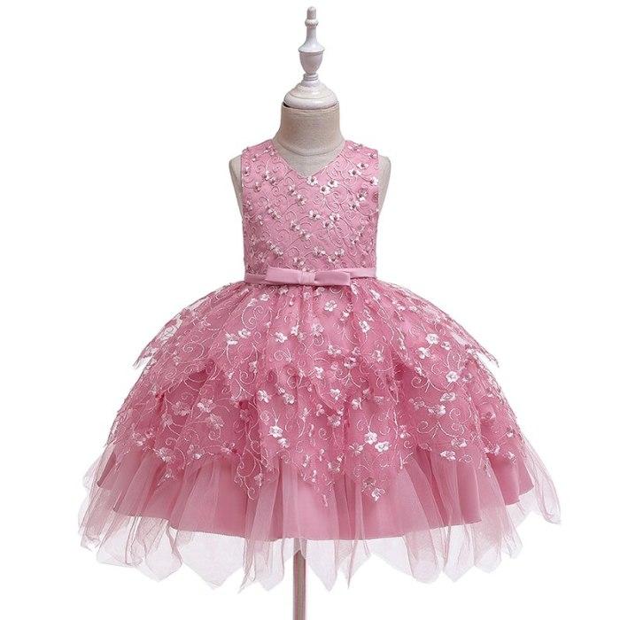 Girls Dresses Wedding Events Flower Birthday Party Costumes Children Clothing