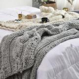 DIY Knitting PATTERN - Triple Cable Throw Blanket / Rug 50  x 60