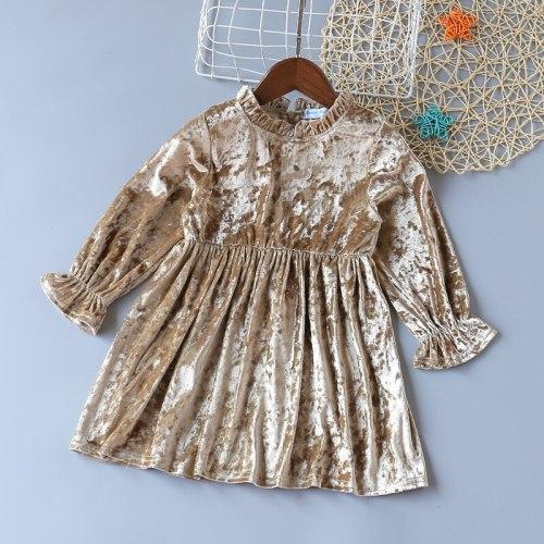 Girls Velvet Princess Dress Baby Girls Dress