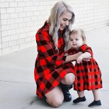Christmas Plaid Family Matching Dress Mommy And Me Winter Dresses