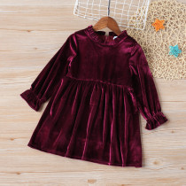 Girls Velvet Princess Dress Baby Girls Dress