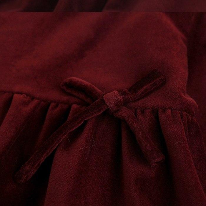 Girls Cotton Velvet Dress Children Long Sleeve Tops