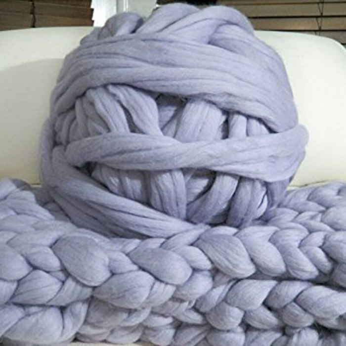 500g DIY Knitting Chunky Wool Roving Yarn Merino Wool Yarn