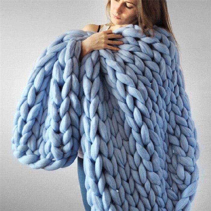 1000g/Ball Thick Chunky Yarn Soft Merino Wool Yarn