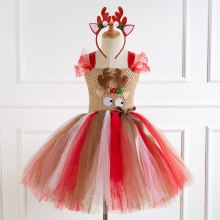 Deer Tutu Dress Christmas Baby Girls Cosplay Party Dresses
