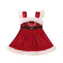 Newborn Baby Girls Christmas Romper Dress