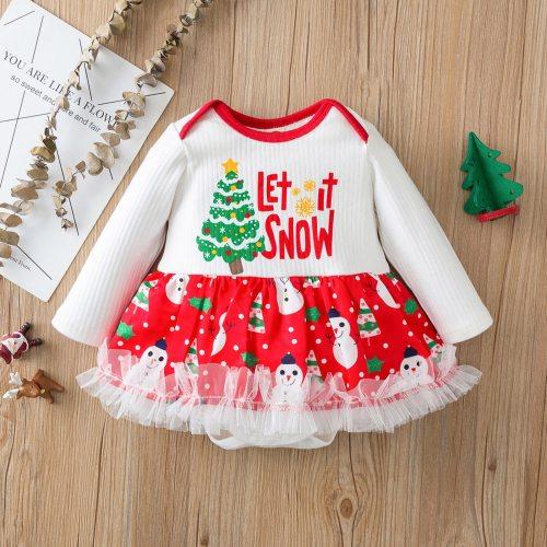 Christmas NewBorn Baby girl Costume Romper Dress