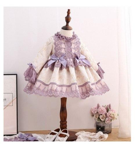 Baby Girl Vintage Dress Princess Ball Gown Dress