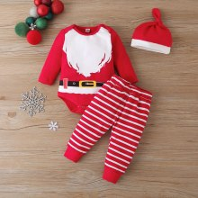Kids Christmas Costume Baby Rompers Set
