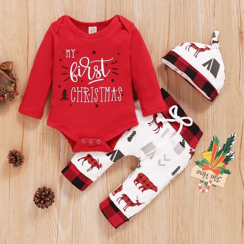 Christmas Baby Clothes Set Newborn baby Rompers Set