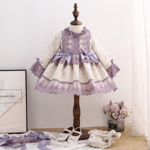 Baby Girl Vintage Dress Princess Ball Gown Dress