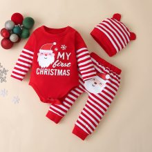 Christmas baby clothes set Baby Rompers Set