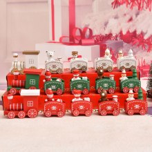 Wooden Christmas Train Ornament Christmas Decoration For Home