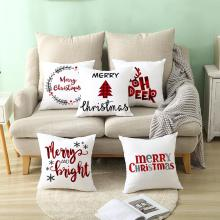 3 PCS Christmas Cushion Cover Christmas Pillow Cover