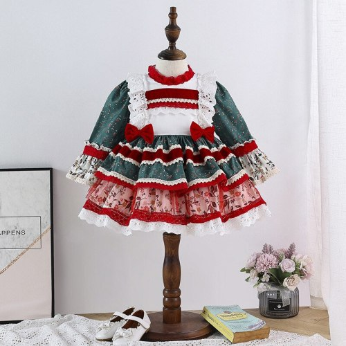 Baby Girl Cotton Boutique Vintage Princess Ball Gown Dress