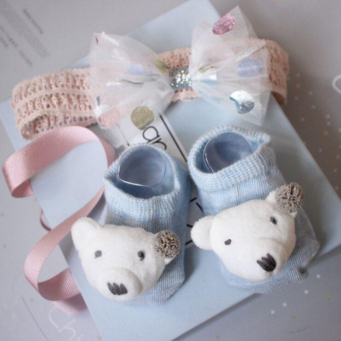 Unisex Baby Headband and Socks Gift set