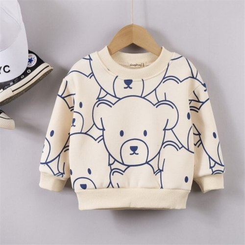 Baby Boys Pullover Plus Velvet Thicken Sweatshirt