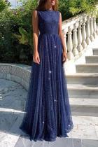 Sparkling Sleeveless Halter   Dress