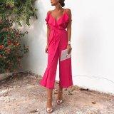 Sexy Fashion Rose Sleeveless Jumpsuits
