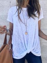 Fashion Short Sleeve Irregular T Shirt