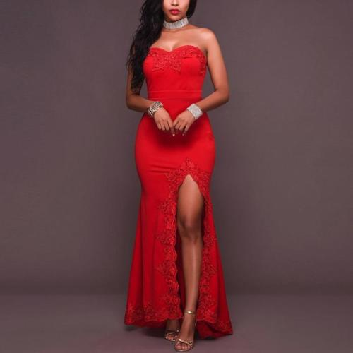 Sexy Lace Package Hip Evening Dress