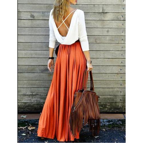 Back Less Elegant Maxi Dress