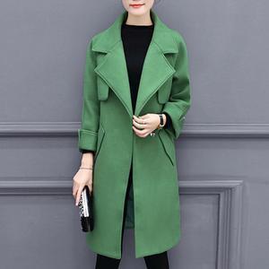Lapel Flap Pocket Plain Woolen Coat