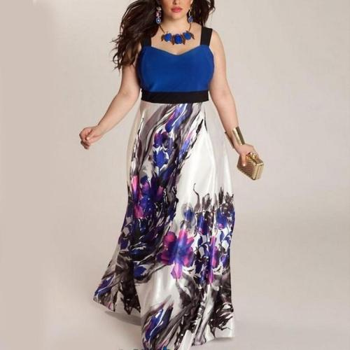 Floral Sleeveless Casual Maxi Dress