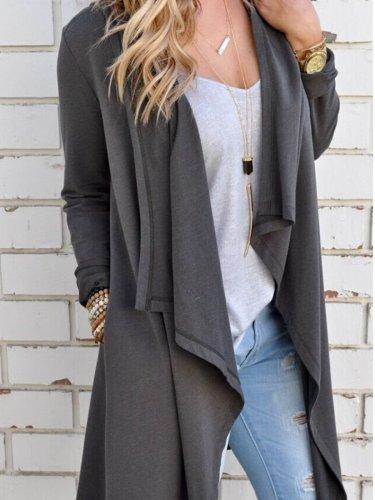 Plain Long Sleeve Cardigans