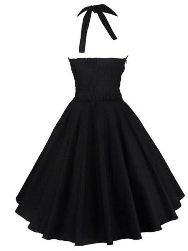 Patchwork Plain Vintage Dresses