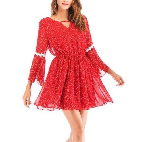 Sexy Flared Waist Dress