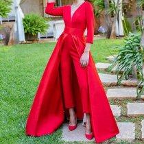 Fashion Bodycon Maxi Dress Jumpsuit