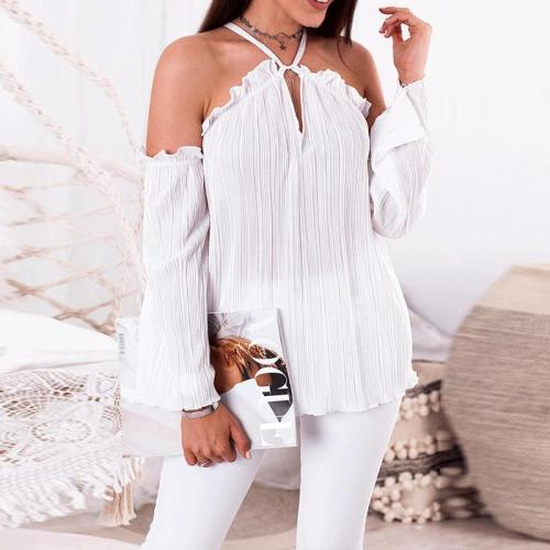 Sexy Halter Sling Flouncing Blouses
