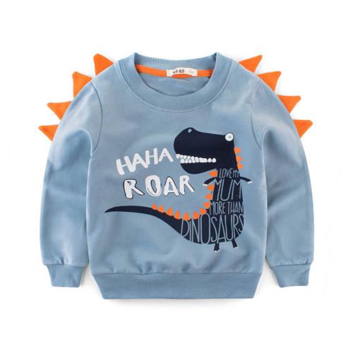 Baby Boys Dinosaur Sweatshirt Long Sleeved T-shirts Tops