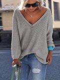 V Neck Loose Fit Sweater