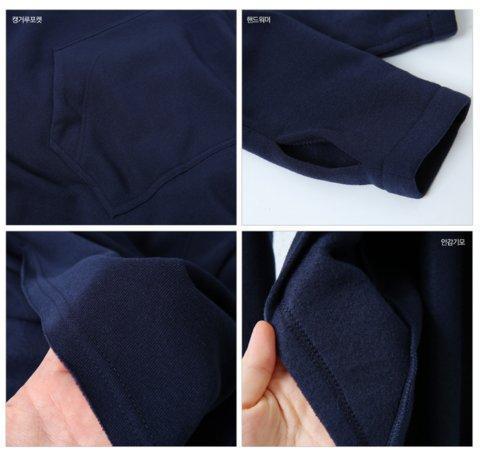 Navy Blue Cotton Solid Asymmetric Hoodie Cape