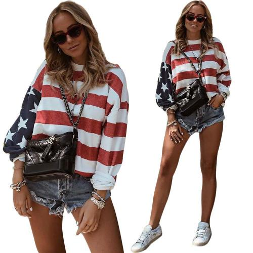Round Neck Long Sleeve Striped T-Shirts