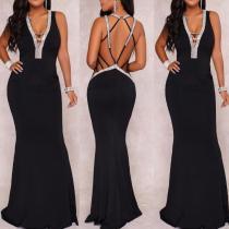 Sexy V-Neck Evening Dress