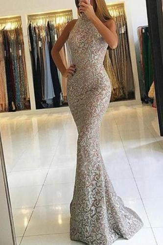 Casual Sexy Sleeveless   Show Thin Evening Party Maxi Dresses