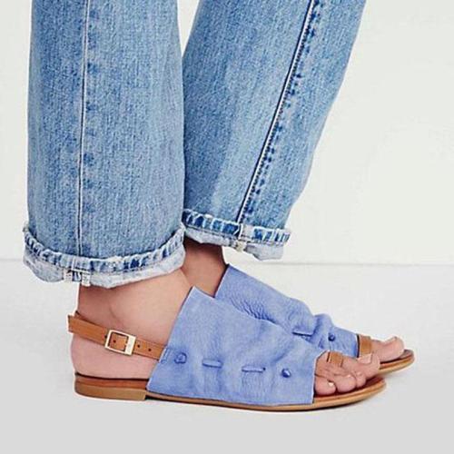 Roman Style Pure Color Sandals
